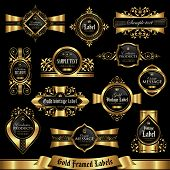 Gold framed labels set 7