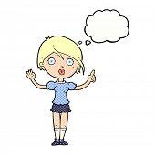 cartoon woman having a revelation