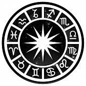 Black Zodiac Circle