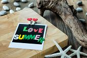 Love Summer Word On Blank Instant Photo
