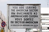 Checkpoint Charlie Sign