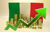 currency appreciation - Italian economy