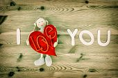 Handmade Valentines Day Decoration. I Love You