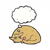 cartoon dog curled up