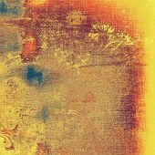 Abstract old background with rough grunge texture. With different color patterns: yellow (beige); brown; red (orange); blue