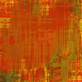Old abstract texture with grunge stains. With different color patterns: yellow (beige); brown; red (orange); green