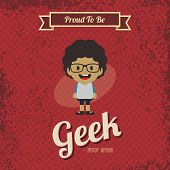 cartoon geek character