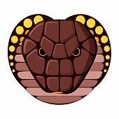 Snake head. Design color vector illustration.