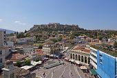 picture of akropolis  - Acropolis and Monastiraki famous square Athens Greece - JPG