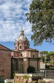 pic of rebuilt  - Santi Luca e Martina was an early medieval church but was rebuilt in 1635 64 by Pietro da Cortona Rome - JPG