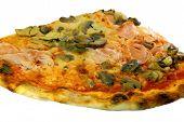 Pizza With Mozzarella Ham Mushrooms