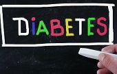 picture of diabetes symptoms  - concept handwritten with chalk on a blackboard - JPG