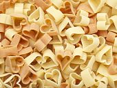 Heart Shaped Pasta Background