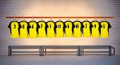 Row of Football Yellow Shirts 3-5