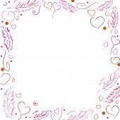 Vector Frame for Valentine's Day