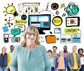 Diversity Casual People Web Design Content Teamwork Leadership Concept
