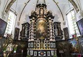 Interiors of sainte anne chrurch, Bruges, Belgium