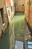 Reflection In Narrow Canal