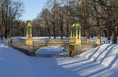 Small Chinese bridge. Alexander Park. City Pushkin (Tsarskoye Selo). Russia.