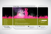 Website music template. Vector