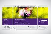 Website music template. Vector