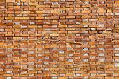 Texture Of Stained Old Brick Wall Background