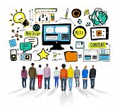 Diversity Casual People Web Design Content Aspiration Team Concept
