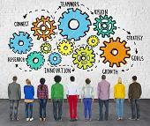 Team Teamwork Goals Strategy Vision Business Support Concept