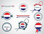 Made in Netherlands - set of seals, badges.