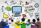 Social Network Social Media Friendship People Diversity Concept