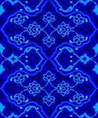 Blue Artistic Ottoman Seamless Pattern Series Fifty Sixty Two