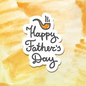 picture of tobacco-pipe  - happy fathers day - JPG