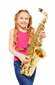 stock photo of saxophones  - Close - JPG