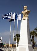 Statue Kimon The Athenian Seaside Promenade Larnaca Cyprus