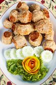 stock photo of crab-cakes  - deep fried crab meat roll cake chinese style food - JPG