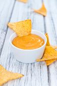 image of nachos  - Nachos with Cheese Dip  - JPG