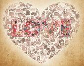 foto of telegram  - word love letters from newspaper - JPG