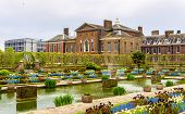 stock photo of kensington  - View of Kensington Palace in London  - JPG