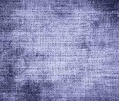 stock photo of blue-bell  - Grunge background of blue bell burlap texture for design - JPG