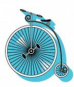 pic of swirly  - Vintage Bike Type 1 with swirly frame - JPG