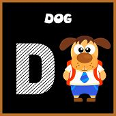 picture of letter d  - The English alphabet letter D Dog  - JPG