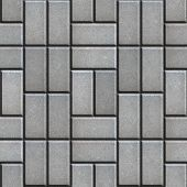 foto of paving  - Gray Pave Slabs Rectangles Laid out in a Chaotic Manner - JPG