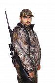 Hunter Looking Over Right Shoulder