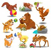 foto of fable  - cartoon animals in action - JPG