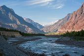 image of karakoram  - Idyllic Mountain mountain peak Northern area of Pakistan - JPG