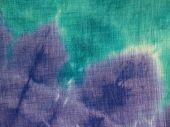 Turquoise & Purple Tie-Dye Close