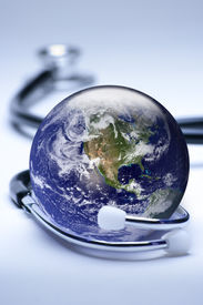stock photo of health-care  - Concept for global medicine - JPG
