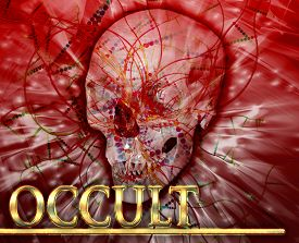pic of occult  - Abstract background digital collage concept illustration occult magic - JPG