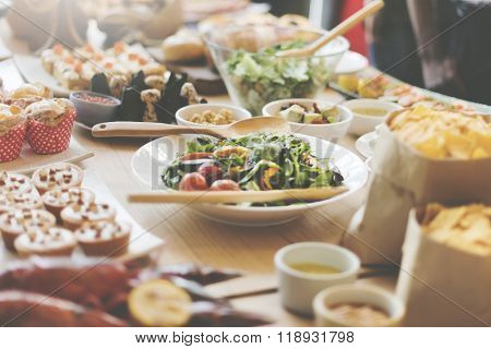 Buffet Brunch Food Eating Festive