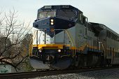 Amtrack Train Head On